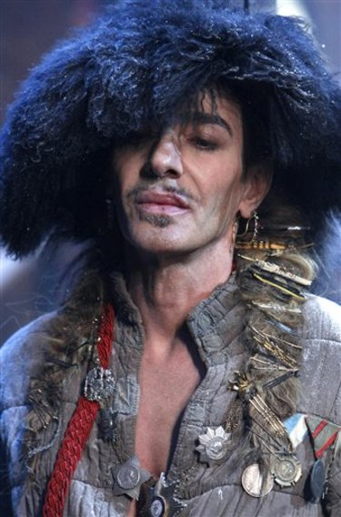john galliano logo. Dior designer John Galliano